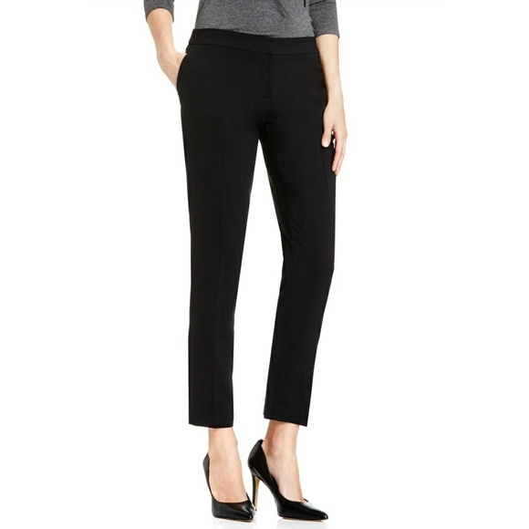 9598239793 VINCE CAMUTO cropped textured skinny ankle pants NWT